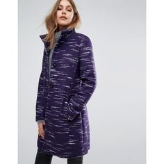 Boss Orange By Hugo Boss Okirana Smart Coat (425 AUD) ❤ liked on Polyvore featuring outerwear, coats, purple, purple coats, tall coats, blue jersey, purple jersey and embroidered coat