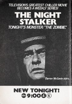 The Night Stalker ABC) starring Darren McGavin. Imaginative story lines. Darren Mcgavin, Old Shows, Tv Land, Vintage Tv, Tv Guide, Me Tv, Before Us, Classic Tv, The Good Old Days
