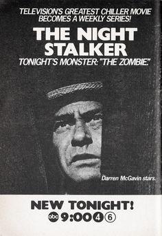 The Night Stalker (1974-75, ABC) starring Darren McGavin