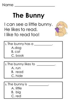 Worksheets Reading Comprehension For Kids kindergarten reading comprehension and on easter passages