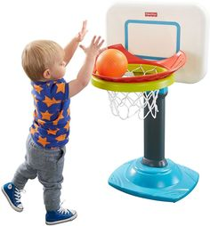 Junior Basketball Grow-to-Pro Toddlers Adjustable Removable Fisher-Price NEW  #FisherPrice