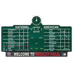 Get this Chicago Cubs Wrigley Field Scoreboard Wood Sign at WrigleyvilleSports.com