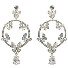 Butler Wilson Crystal Butterflies Hoop Drop Earrings featuring Swarovski crystal, they fasten with a post and push clasp. Jewelry Gifts, Fine Jewelry, Jewellery, Daisy London, Butler & Wilson, Crystal Fashion, Butterfly Necklace, Bridal Shoes, Crystal Jewelry