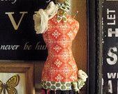 Items similar to Dress Form Vintage Illustration Necklace on Etsy. , via Etsy.