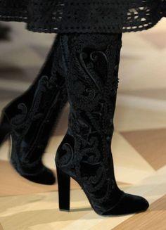 Salvatore Ferragamo FW 2012 at Milan Fashion Week Fall 2012 Look Fashion, Fashion Boots, Milan Fashion, Salvatore Ferragamo, Heeled Boots, Bootie Boots, Christian Louboutin, Sexy Boots, Black Boots