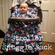 How to make a Stroller Snuggle Sack - 2 yards of fleece