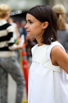 gracespain: Focus on Miroslava's cropped harness in white... (Chloé ♡ Ruby)
