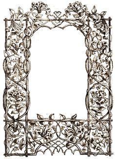 Vintage Trellis Frame - also available in black ~ Álbum de imágenes para la inspiración (pág. 106)