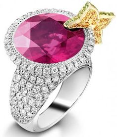 Piaget cosmopolitan ring.  Via Diamonds in the Library.
