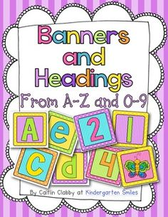 A to Z letters for Bulletin Boards or Banners--I use these for EVERYTHING!!