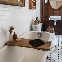 Sustainable Wood Bathtub Tray in Oak, Natural Bath Caddy, Rustic Bathroom Organization, Minimalist Shelf, Spa Decor Wood Bath Tray, Wood Tub, Wood Bathtub, Concrete Bathroom, Bathroom Faucets, Bathroom Renos, Bathroom Ideas, Condo Bathroom, Bathroom Layout