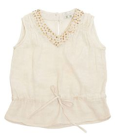 Take a look at this Ivory Sequin Top - Toddler & Girls by Rayil on #zulily today!