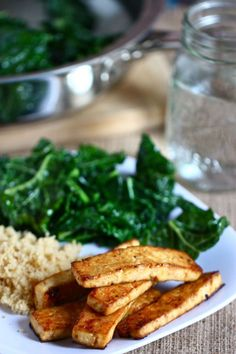 Asian Baked Tofu by pbs.org: Try it with an extra firm sprouted tofu!  #Tofu #Baked #Easy