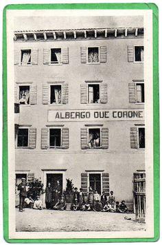 CASTELLAVAZZO BELLUNO ALBERGO DUE CORONE 1925 SUPER ! ! !