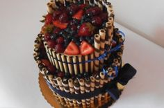 Ovocný dort s trubičkami - dortyodradky