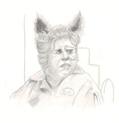 """'Barf"""" by Ebell pencil on paper"""