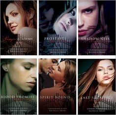 Vampire Academy series by Richelle Mead Vampire Academy read by Stephanie Wolf Frostbite & Shadow Kiss read by Khristine Hyam Blood Promise, Spirit Bound & Last Sacrifice read by Emily Shaffer