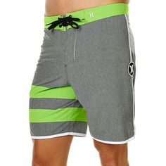 35eab62bd8707 Hurley Phantom 60 Mens Boardshort - Cool green grey colour with flat  waistband with lace-