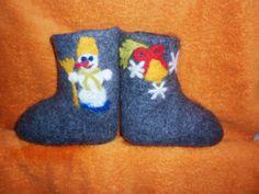 Snowmen,felt boots for boy