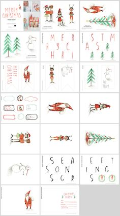 Christmas Printables for Playful Toys and von tuesdaymourning