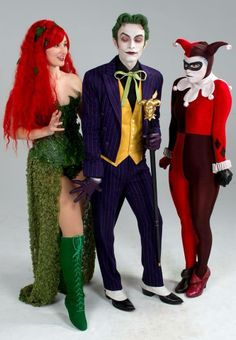 Alexandria the Red as Poison Ivy with Harley's Joker and Joker's Harley  .Photo by Eric Anderson Photographic