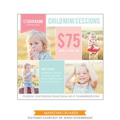 Photography Marketing board - Newsletter  template -E497-1