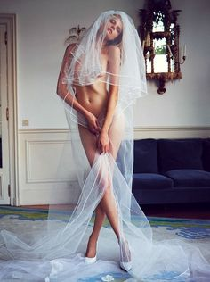 maybe at the end, the bride is naked (common dream) and there is no wedding at all? it was all a dream