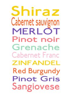 Fun Wine List For Wine Lovers Colorful Subway by DimpleLanePrints, $18.00