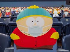 1,800 South Park Cut-Outs Spread Across Five Sections at Broncos Game During the COVID-19 Pandemic Denver Broncos Game, Go Broncos, Eric Cartman, South Park Characters, Fictional Characters, Nfl, Comedy Central, Charity, Pikachu