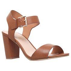 sadie, tan shoe by carvela kurt geiger - women shoes sandals Trendy Sandals, Tan Sandals, Tan Shoes, Studded Sandals, Open Toe Sandals, Shoe Boots, Heeled Sandals, Block Sandals