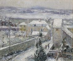 https://flic.kr/p/RLdBiE   Gustave Loiseau - Winter in Triel-sur-Seine (Hiver à Triel-sur-Seine) [1914]   Gustave Loiseau (Paris, October 3, 1865 - Paris, October 10, 1935) was a French Post-Impressionist painter, remembered above all for his landscapes and scenes of Paris streets. Loiseau's paintings, revealing his passion for the seasons from the beginning of spring to the harvests later in the autumn, often depict the same orchard or garden scene as time goes by. Series of this kind…