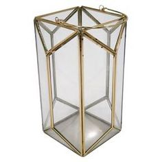 """11"""" Outdoor Lantern Stainless Steel & Glass - Plated Gold - Threshold ™ : Target"""