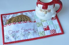 Quilted santa cookie mat - so cute!