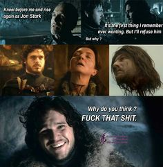Jon Snow does know something then...