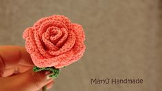 Tutorial: how to crochet a rose | in English ♡