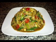 Papaya Salad (Som Tum) ส้มตำ - Hot Thai Kitchen! - YouTube
