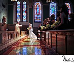 Marriage ceremony at St. Timothy's Church in Philadelphia, PA #philadelphiawedding #wedding #bride #michaelsphotography http://www.michaels-photography.net