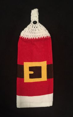 A personal favorite from my Etsy shop https://www.etsy.com/listing/260423410/crocheted-top-dish-towel-santa-coat