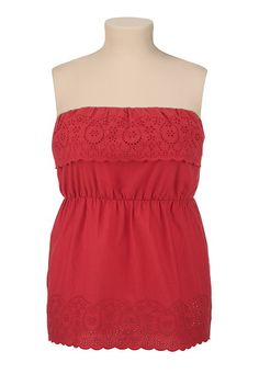 Embroidered Ruffle Tube Top available at #Maurices Tube Top Outfits, Summer Looks, Summer Sun, Spring Collection, Plus Size, Fashion Outfits, Clothes For Women, My Style, Spring Fever