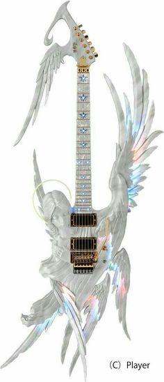 Oh Wow, That Guitar looks amazing! Guitar Art, Music Guitar, Guitar Chords, Cool Guitar, Music Songs, Custom Electric Guitars, Custom Guitars, Mundo Musical, Play That Funky Music