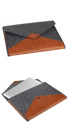 Wool + Leather laptop sleeve. Love the look of these sleeves, but do you have to leave the power cord behind to embrace this style?