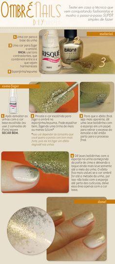 Ombré Nails: como fazer! - Site Unha Bonita | por Daniele Honorato