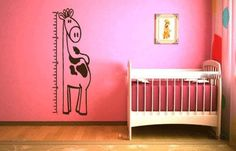Giraffe Growth Chart Vinyl Wall Decal Sticker Graphic