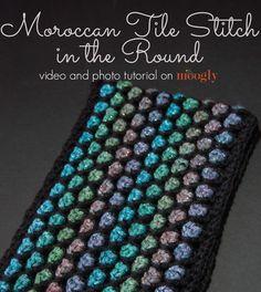 uncinetto piastrella stitch