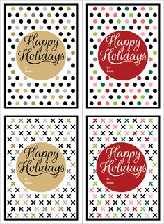 Printable gift tags from Lovely Paper. Happy Holidays!