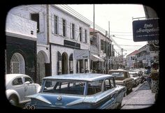 vintage everyday: Wonderful Color Photo of Main Street, St. Thomas, U.S. Virgin Islands1964