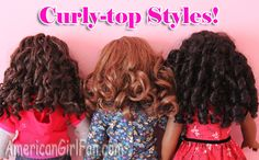 Hairstyles for Curly American Girl Doll Hair! Ag Doll Hairstyles, American Girl Hairstyles, American Girl Doll Hair Care, American Dolls, Sewing Dolls, Ag Dolls, Girl Dolls, Fix Doll Hair, Hair Fixing
