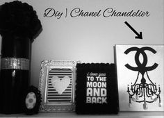 DIY TUMBLR ROOM DECOR | Chanel Chandelier Canvas (Pinterest Inspired)