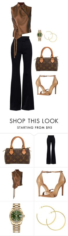 """Business Woman"" by hy1as on Polyvore featuring Mode, Louis Vuitton, Alexander McQueen, Ann Demeulemeester, Schutz und Rolex"