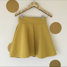 HP H&M TREND Chartreuse Skater Skirt Brand New Without Tags! Never worn! H&M Skirts Circle & Skater